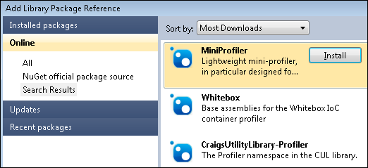 Add reference to MiniProfiler