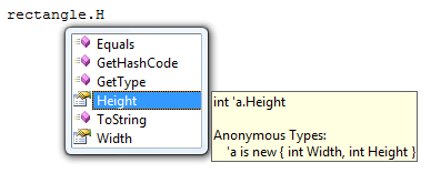 Anonymous types and IntelliSense