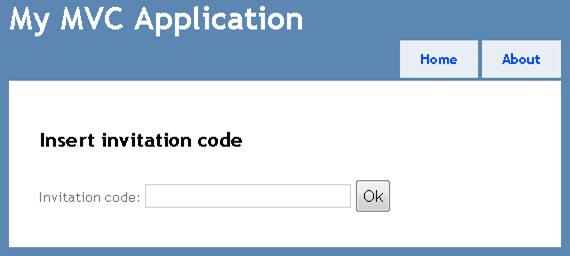 Insert invitation code