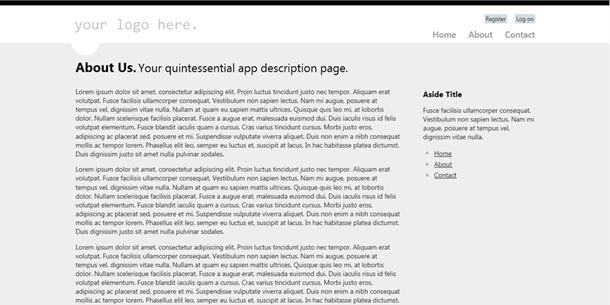 ASP.NET MVC 4 about page