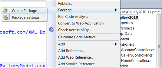 Visual Studio: Create package