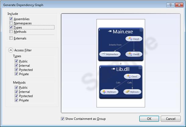 Visual Studio 2010: Custom dependency graph