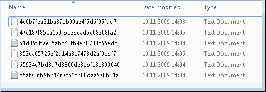 File cache provider output