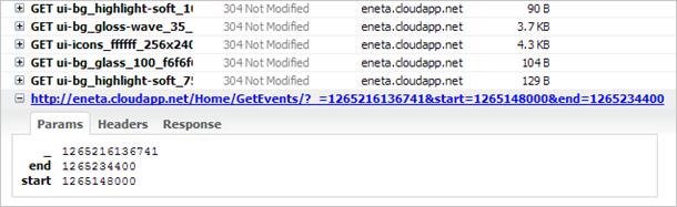 FullCalendar event info request