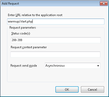 IIS Application Warm-Up: add new request