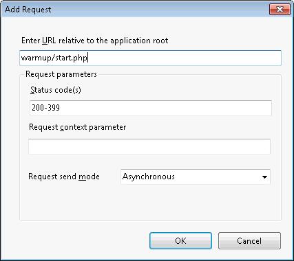 IIS Application Warm-Up: add new request