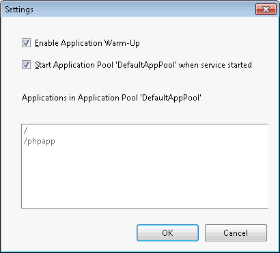 IIS Application Warm-Up settings