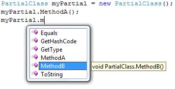 Partial class methods