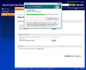 Windows Azure: Upload is in progress