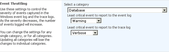 SharePoint event throttling settings