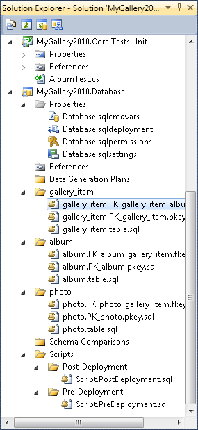 Visual Studio 2010 database project