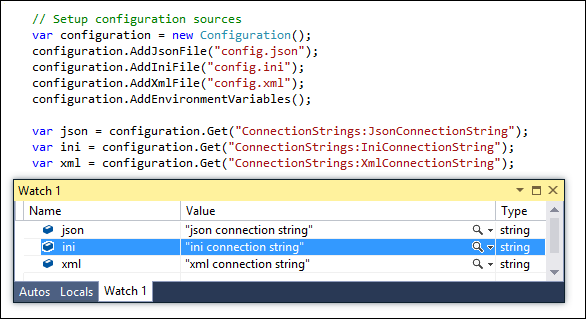 ASP.NET MVC 6: Values from multiple configuration files