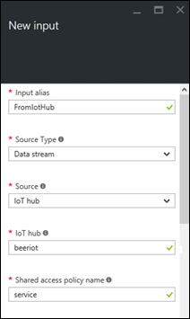 Stream Analytics: Adding new input