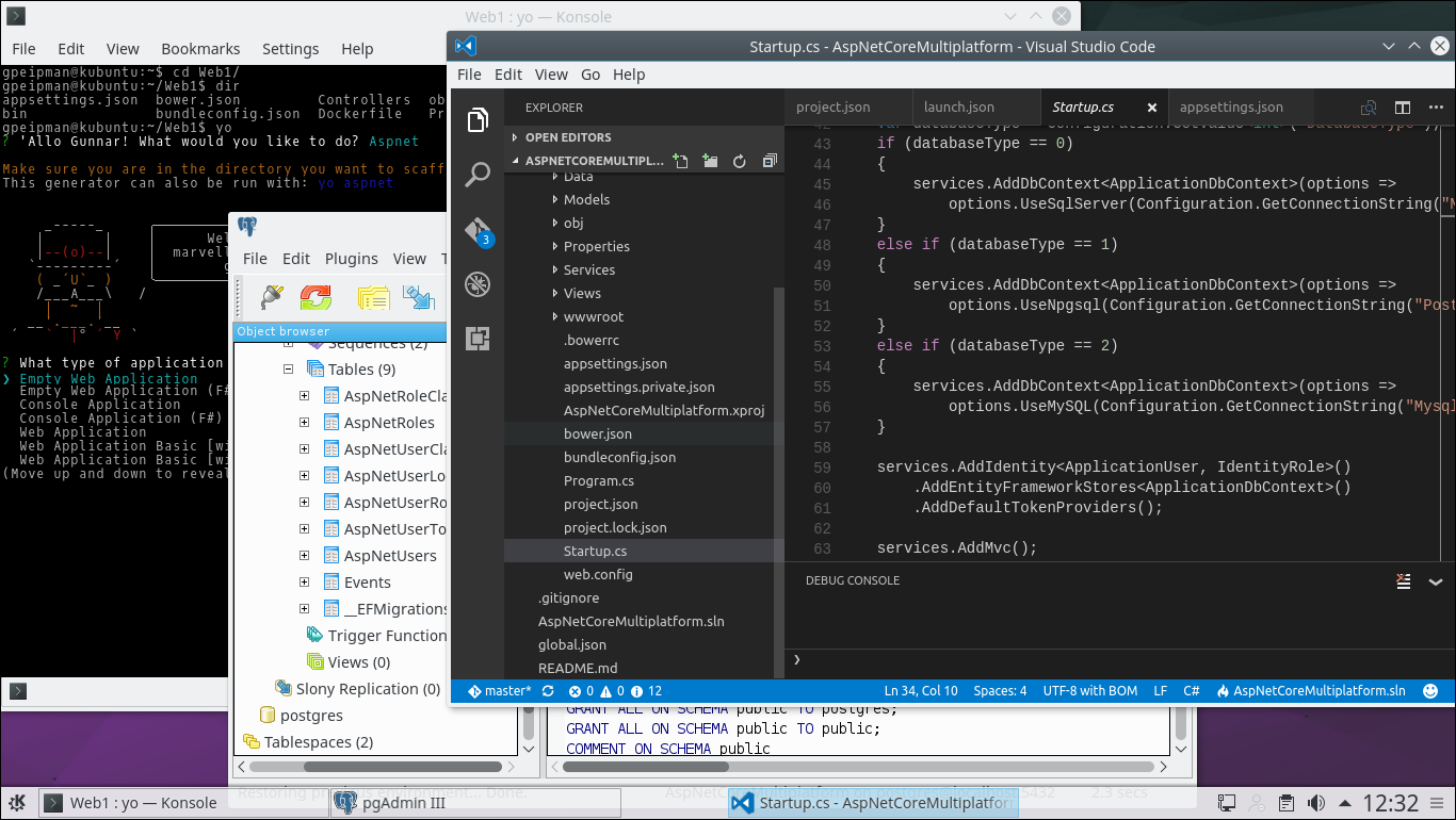 ASP.NET Core development on Linux