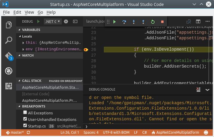 Visual Studio Code: Hit da breakpoint!