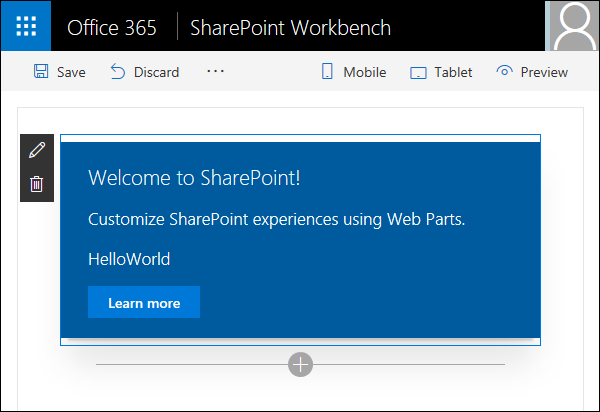 SPFx: Client-side web part on SharePoint workbench