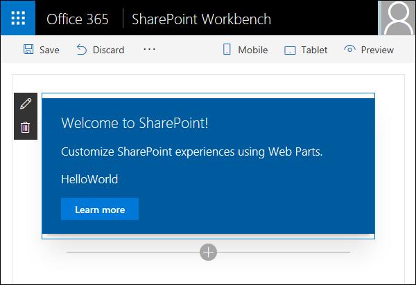 SPFx: Client-side web part on SharePoint workbench