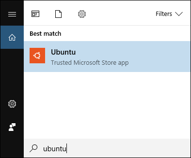 Search for Ubuntu on Windows
