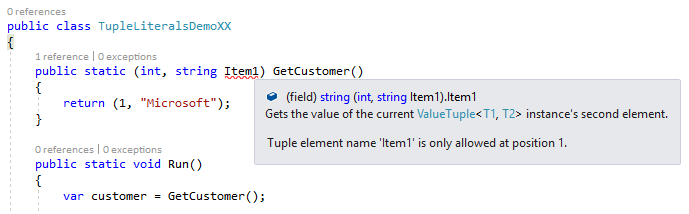 Tuple literal name conflict