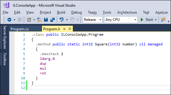 IL Support extension for Visual Studio 2017