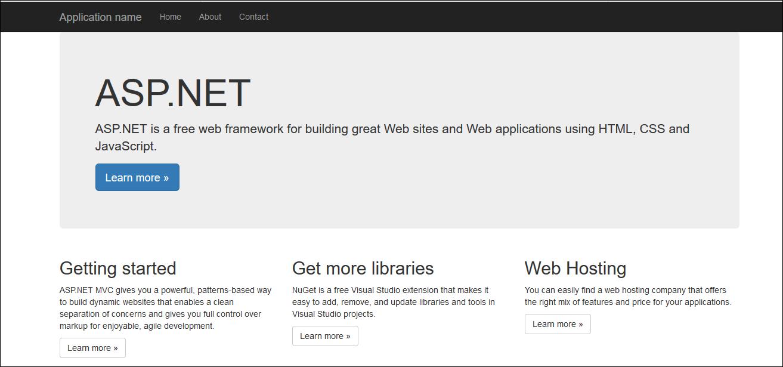 ASP:NET MVC default page
