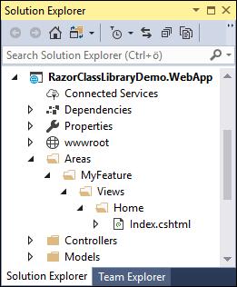 Overriding Razor UI library view