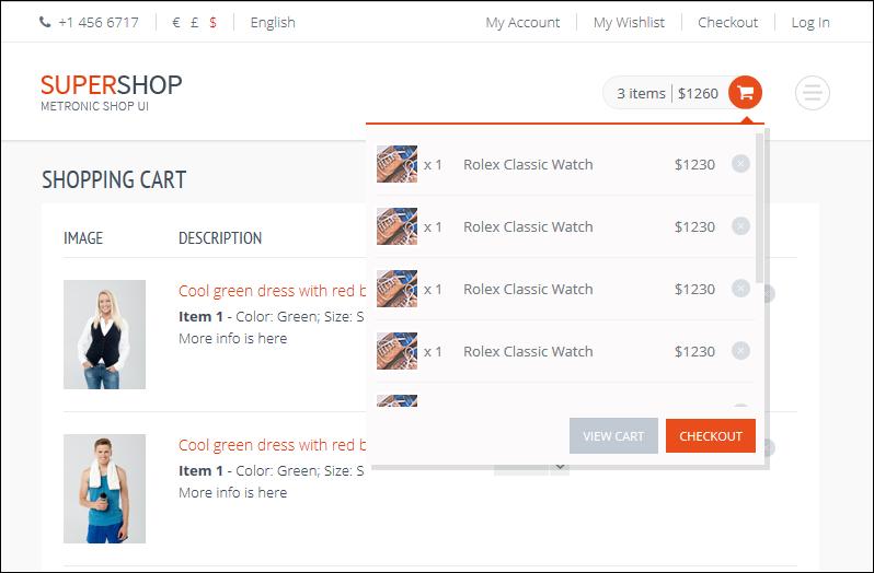 Metroni eCommerce on Azure static website