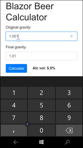 Offline Blazor application