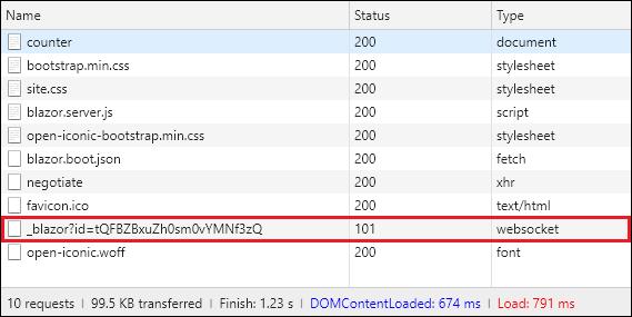 Server-side Blazor app files