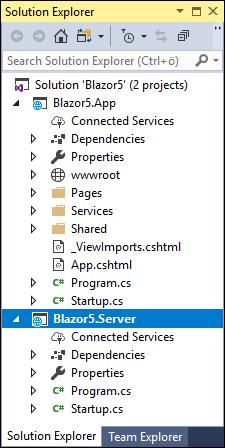 Server side Blazor solution