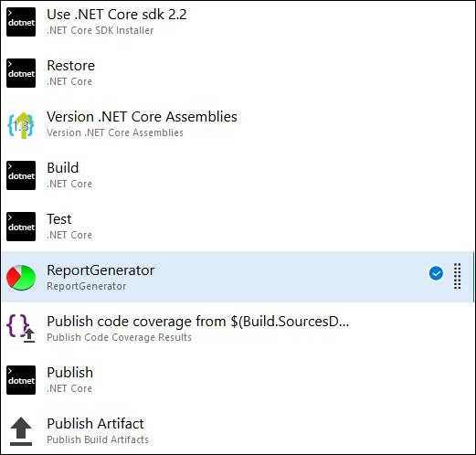 Azure DevOps: ReportGenerator task