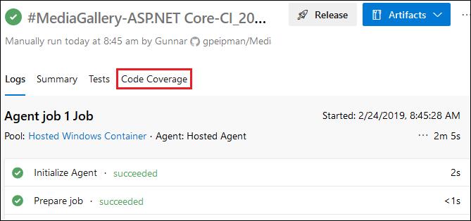 Azure DevOps: Code coverage link
