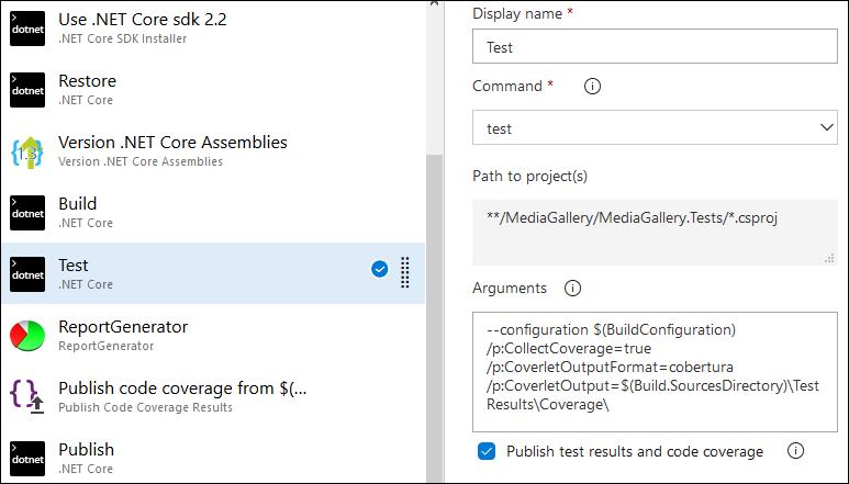 Azure DevOps: Configuring unit tests