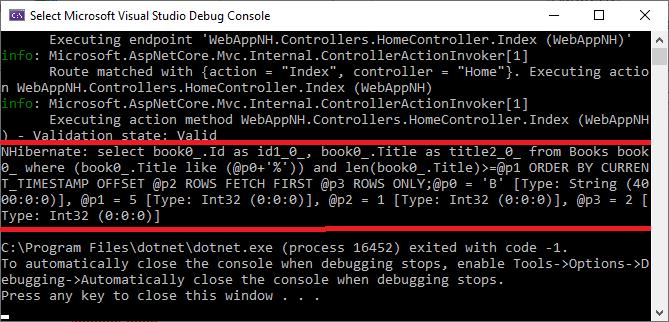 NHibernate query translated to SQL