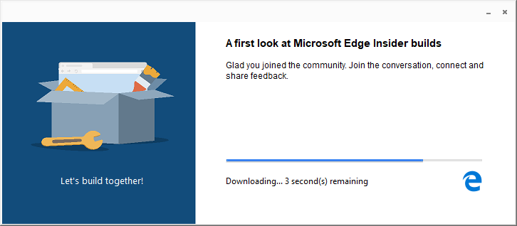 Edge Insider: Brand new installer