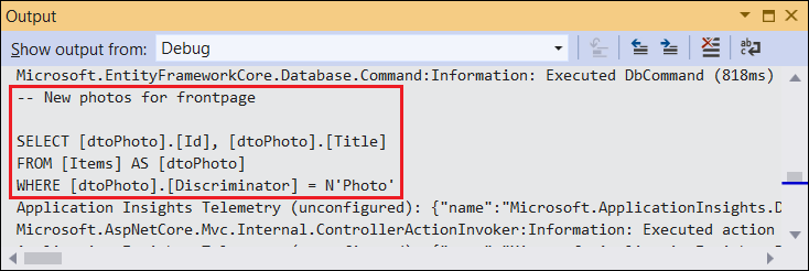 Entity Framework Core: Query tags