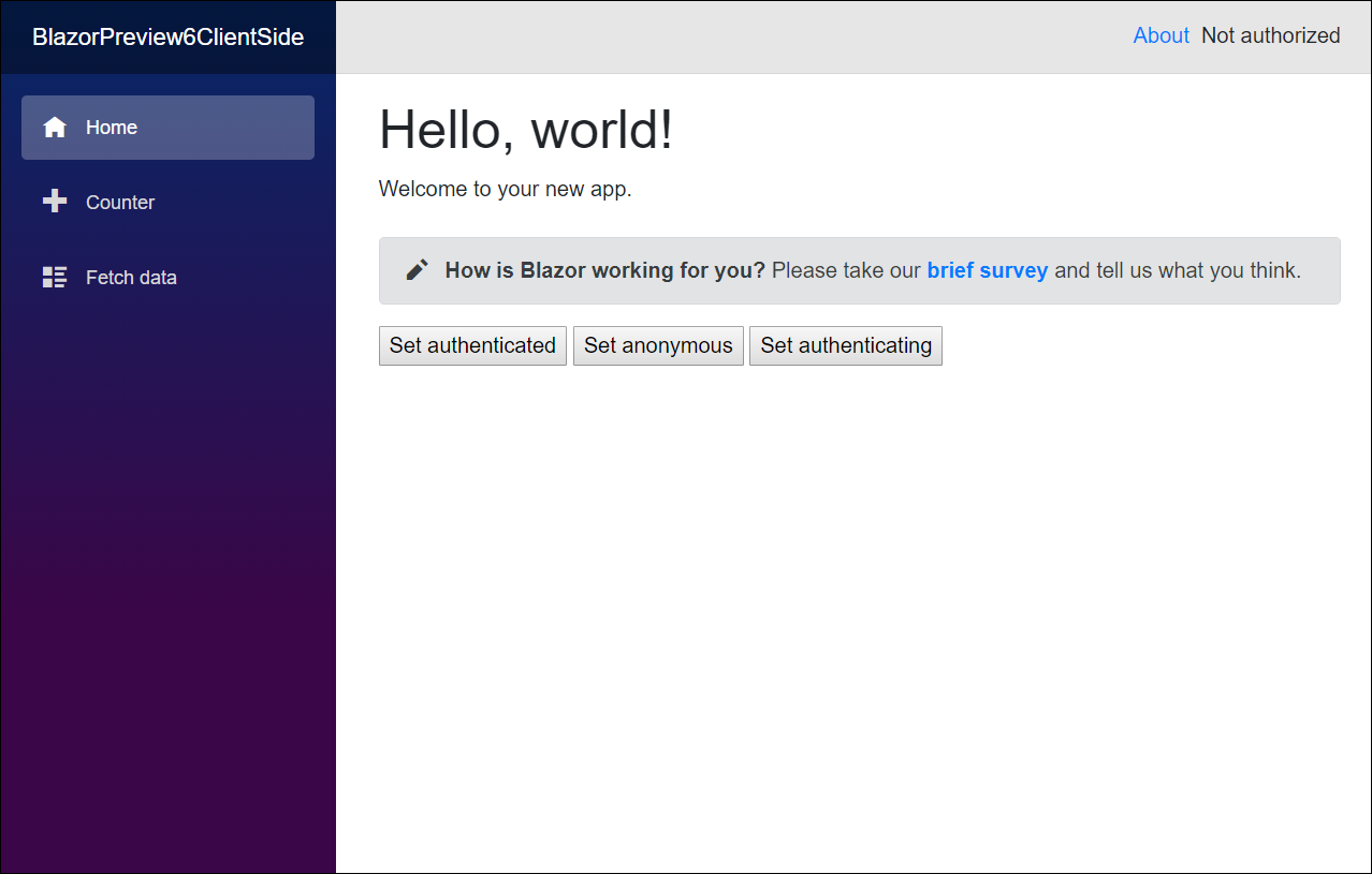 Blazor: Testing client-side authentication