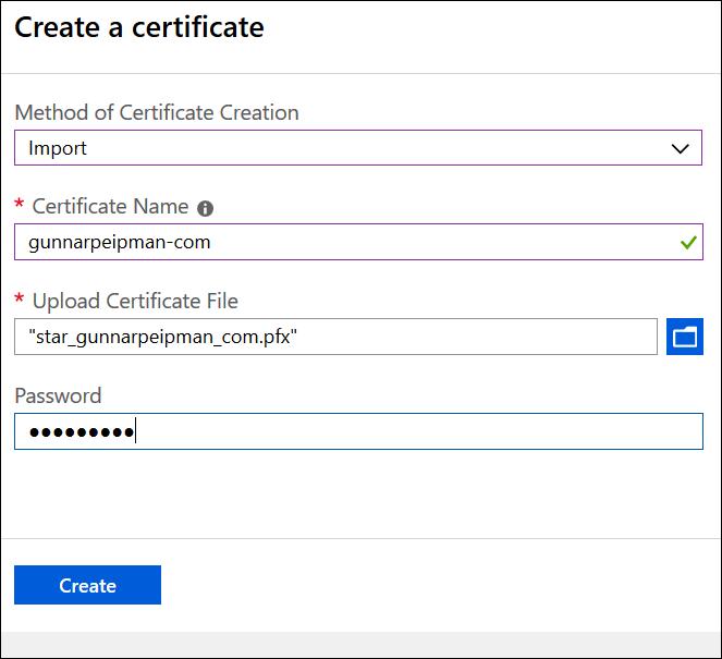 Jekyll Azure Key Vault: Add certificate
