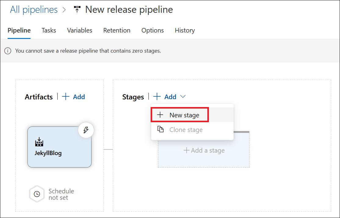 Jekyll release pipeline: Add release stage