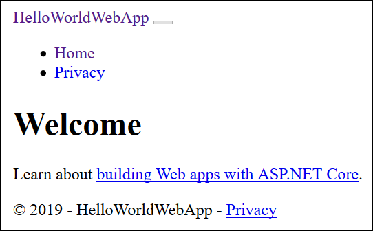 Self-contained web application with no styles