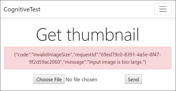Azure thumbnail service error