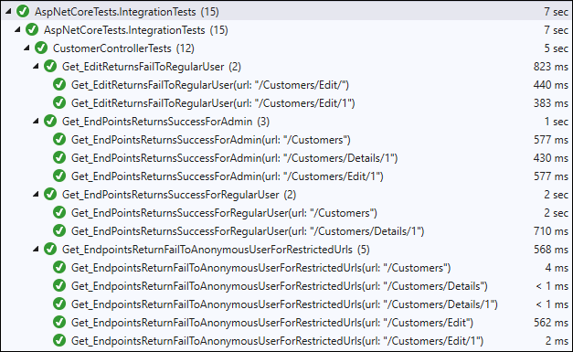 ASP.NET Core integration tests with injected user pass