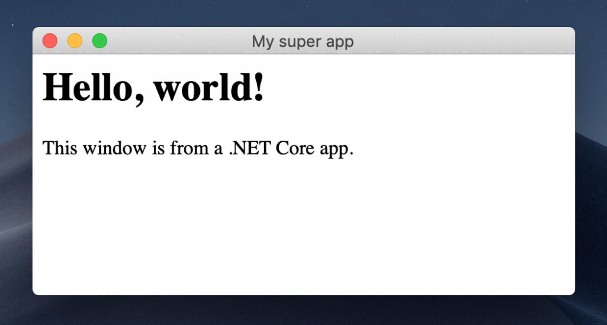 Blazor in WebView