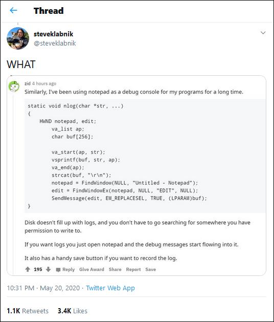 notepad.extensions.logging-tweet