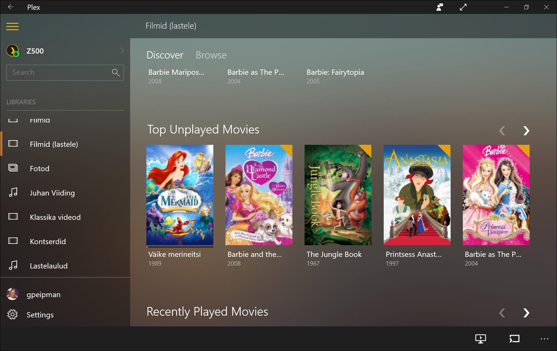 Kids Movies on Plex Server